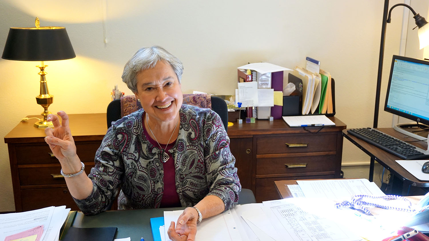 Mary Kincannon has worked at TCU for over 32 years, and she is excited about her new position.