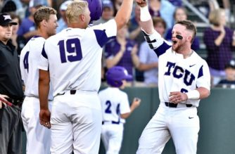 Skoug homers twice as Frogs squeak by 'Horns 11-10 in extras
