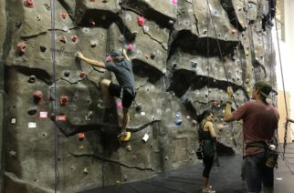 Students during Climbing practice. Sept., 19, 2017. Fort Worth, Texas