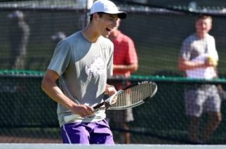 Alastair Gray at the ITA Texas Regional Championships in College Station. Photo courtesy of GoFrogs.