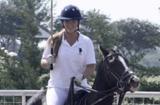 Junior Paige Browning at a polo game. October 1, 2017. Oak Point, Texas