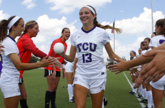 TCU vs Kansas State soccer in Fort Worth, Texas on September 22, 2017. (Photo by/Sharon Ellman)