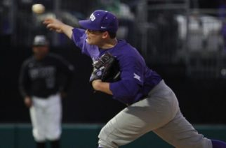 Jared Janczak recorded 11 strikeouts on Opening Day. Photo courtesy of gofrogs.com