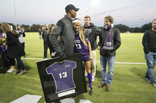 TCU vs Baylor soccer in Fort Worth, Texas on October 27, 2017. (Photo/Sharon Ellman)
