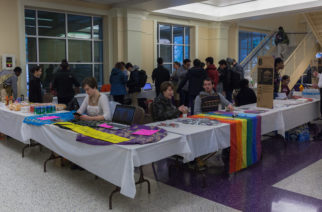 A look at the Diversity Within Us tabling at Union Grounds on the first floor of the Brown-Lupton University Union. Photo by Cristian ArguetaSoto.