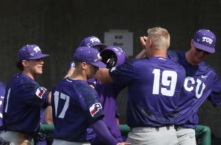 TCU Horned Frogs in Phoenix Sunday in the third game of the series against Grand Canyon. Photo courtesy of Gofrogs.