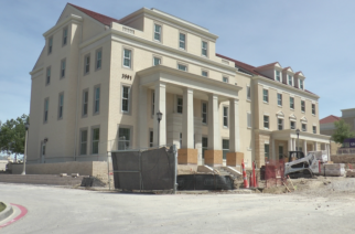 Construction of the Panhellenic house and all fraternity houses will be complete in August. 25 girls will move in with a chapter resident assistant and hall director. Photo by Alexa Hines