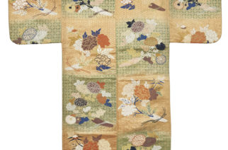 Noh costume Japan  Edo period, 1603-1868 Silk brocade  The Sam and Myrna Myers Collection  Photo by Thierry Ollivier