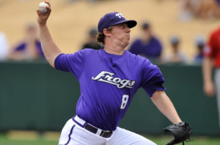 February 19, 2010:  during the game between the University of Kansas Jayhawks and the Texas Christian University Horned Frogs at Lupton Stadium, Fort Worth, TX. TCU won against Kansas 5-1.
